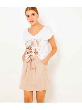 Starorůžová sukně s kapsami CAMAIEU