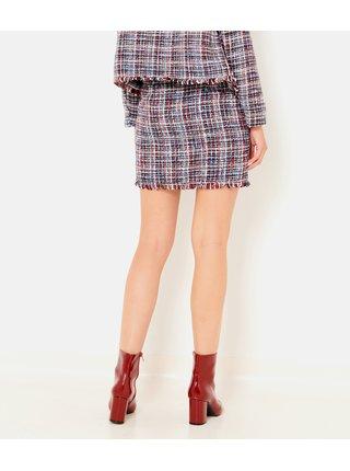 Červeno-čierna kockovaná sukňa CAMAIEU