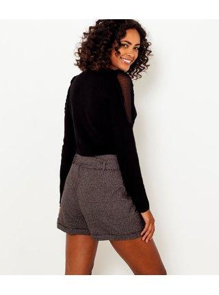 Černý lehký svetr s průsvitnými rukávy CAMAIEU