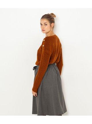 Hnedý sveter CAMAIEU
