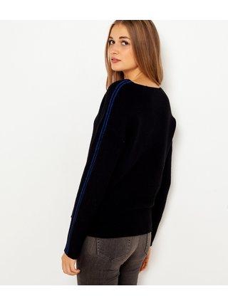 Čierny ľahký sveter s pásom CAMAIEU
