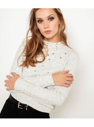 Bílý lehký svetr CAMAIEU