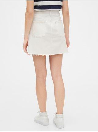 Bílá dámská sukně high rise denim skirt