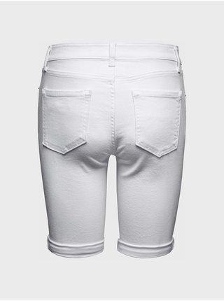 Bílé dámské kraťasy Džínové bermuda optic white