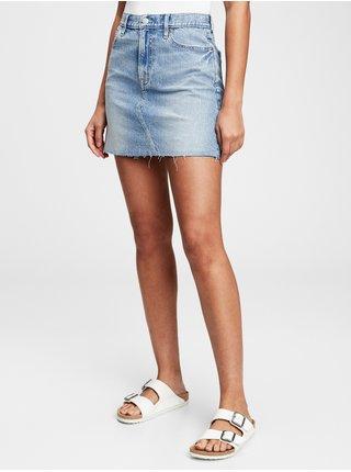 Modrá dámská sukně Džínová pocket mini skirts