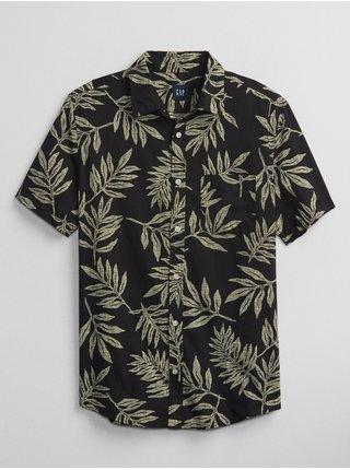 Zelená pánská košile poplin