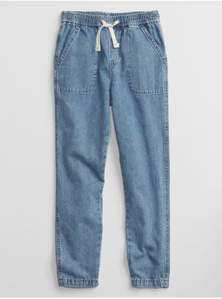 Modré holčičí džíny džinsy denin pull-on joggers denin pull-on joggers