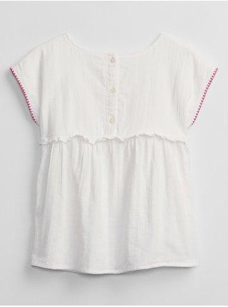 Bílá holčičí košile embed woven top