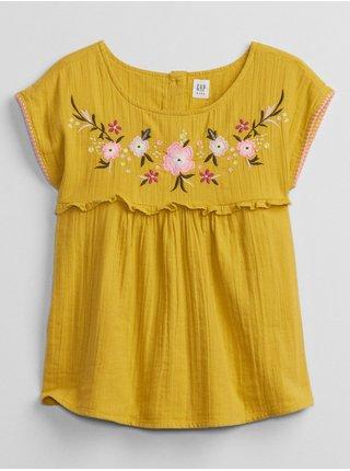 Žlutá holčičí košile embed woven top
