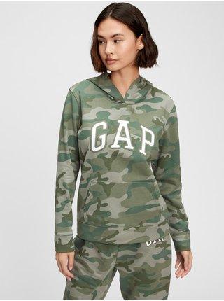 Zelená dámská mikina GAP Logo hoodie