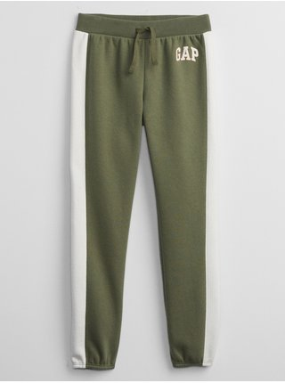 Zelené holčičí legíny GAP Logo pull-on joggers