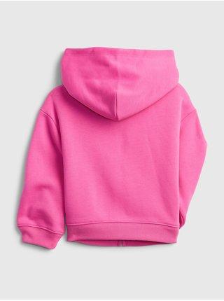 Růžová holčičí mikina GAP Logo full zip hoodie