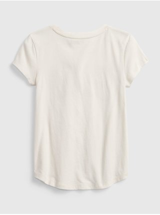 Smetanové holčičí tričko GAP Logo t-shirt