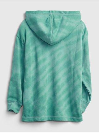 Zelená holčičí mikina ovrsized hoodie