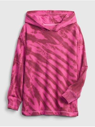 Růžová holčičí mikina ovrsized hoodie