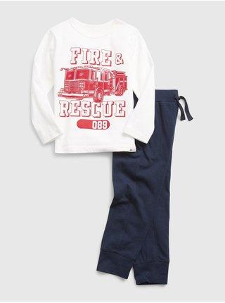 Modrá klučičí souprava outfit set