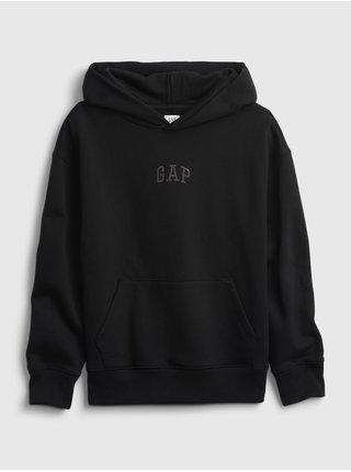Černá klučičí mikina GAP Logo pocket hoodie