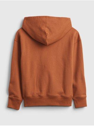 Oranžová klučičí mikina GAP Logo pocket hoodie