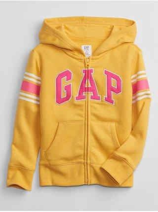 Žlutá holčičí mikina GAP Logo hoodie