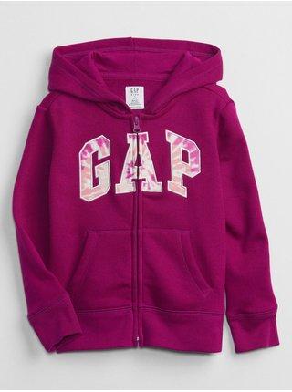 Fialová holčičí mikina GAP Logo hoodie