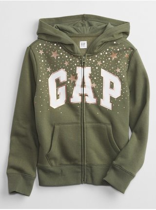 Zelená klučičí mikina GAP Logo hoodie
