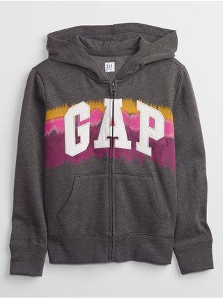 Šedá klučičí mikina GAP Logo hoodie