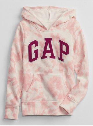 Růžová holčičí mikina GAP Logo pocket
