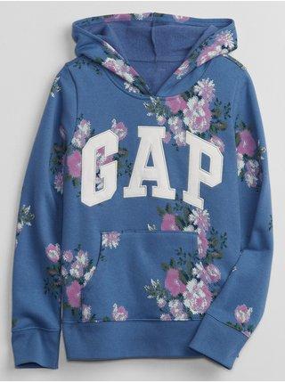 Modrá holčičí mikina GAP Logo pocket