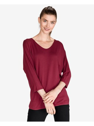 Tričká s dlhým rukávom pre ženy Tom Tailor - červená