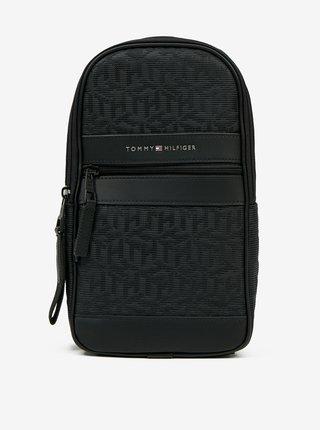 Čierna vzorovaná pánska crossbody taška Tommy Hilfiger