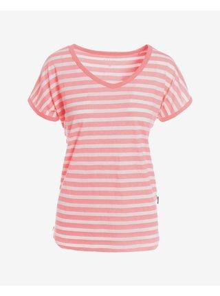 Tričká s krátkym rukávom pre ženy SAM 73 - ružová, biela