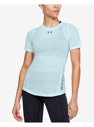 Tričká s dlhým rukávom pre ženy Under Armour - modrá