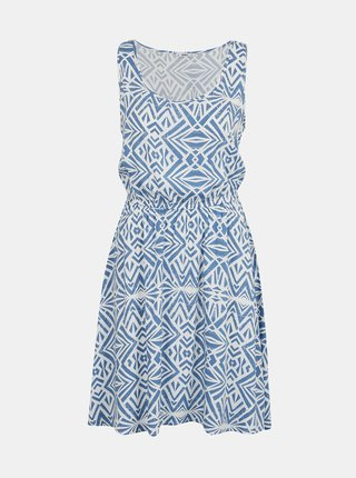 Bielo-modré vzorované šaty ONLY Nova