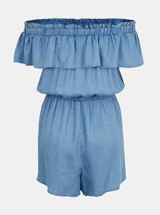 Modrý krátký overal s odhalenými rameny TALLY WEiJL
