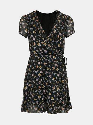 Čierne kvetovaní šaty TALLY WEiJL