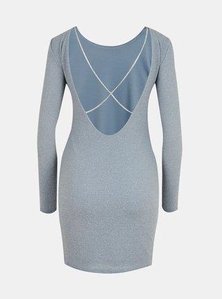 Světle modré pouzdrové šaty s odhalenými zády TALLY WEiJL