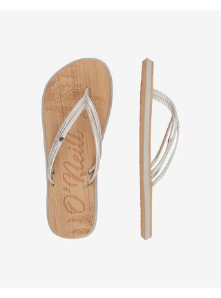 Papuče, žabky pre ženy O'Neill - hnedá, strieborná