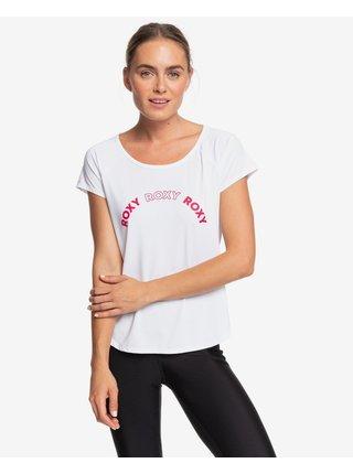 Tričká s krátkym rukávom pre ženy Roxy - biela