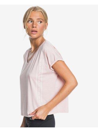 Tričká s krátkym rukávom pre ženy Roxy - ružová