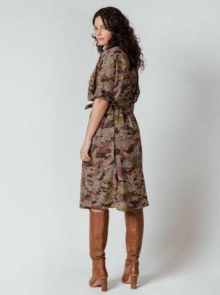 Hnedé vzorované šaty SKFK Melia