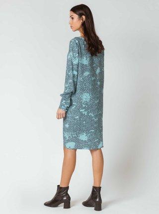 Svetlomodré vzorované šaty SKFK Aura