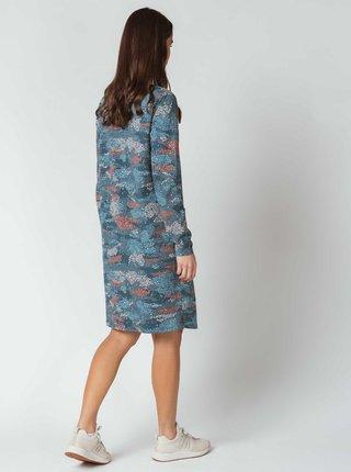 Modré vzorované šaty s kapsami SKFK Ilbe