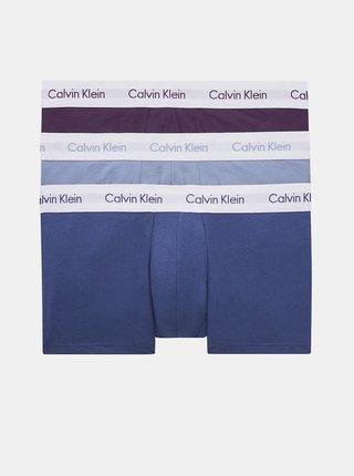 Calvin Klein farebné 3 pack boxeriek Low Rise Trunk 3PK