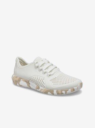 Dámske biele tenisky Crocs