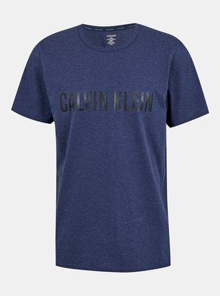 Calvin Klein modré pánske tričko S/S Crew Neck