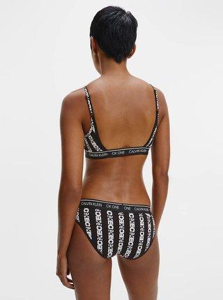 Černé vzorované kalhotky Calvin Klein Bikini
