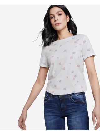 Tričká s krátkym rukávom pre ženy Tom Tailor - biela
