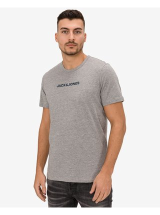 Tričká s krátkym rukávom pre mužov Jack & Jones - sivá