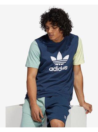 Tričká s krátkym rukávom pre mužov adidas Originals - modrá, zelená