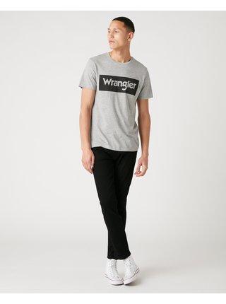 Tričká s krátkym rukávom pre mužov Wrangler - sivá